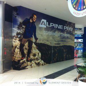 Alpine pro optima polep na stenu