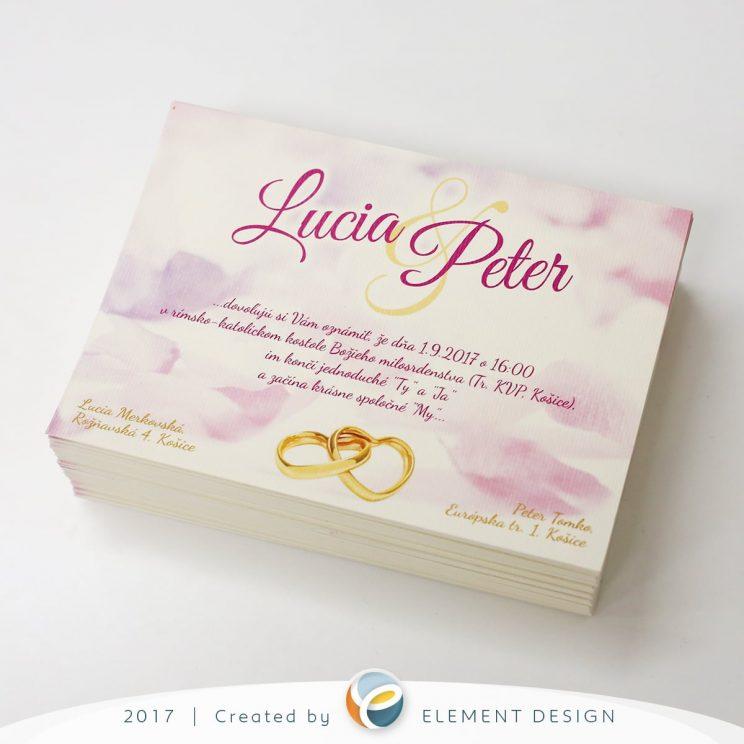 Svadobné oznámenie Lucia a Peter