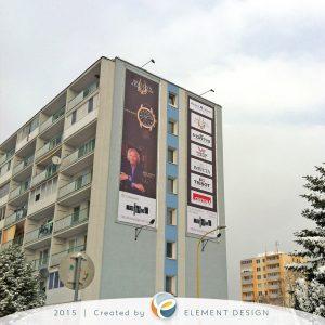 Bannery na budovu v Košiciach