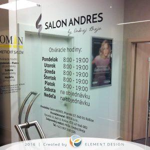 Salon andres nálep na dvere