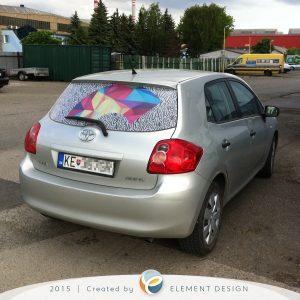 Kreatívny polep na auto