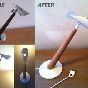 Kreativita renovácia lampa