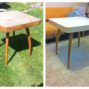 Kreativita renovácia stola