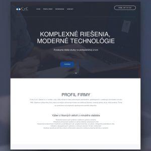C&C webstránka - Profesionálne webové stránky