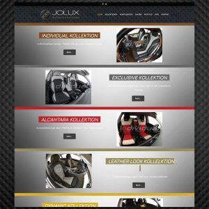 Jolux webstránka - Profesionálne webové stránky