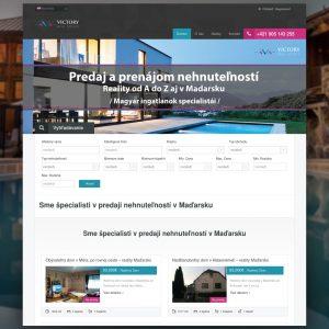 Victory real estate webstránka - Profesionálne webové stránky