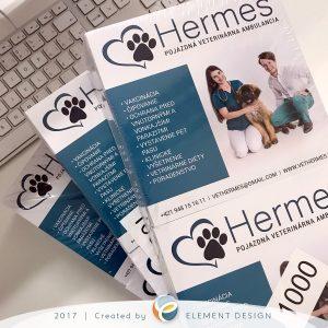 Leták Hermes - veterinárná ambulancia v Košiciach