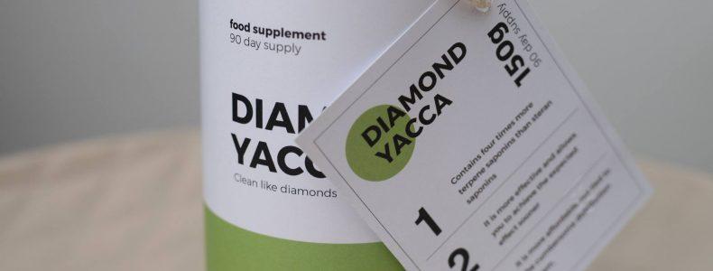 Etiketa na produkt Diamond Yacca