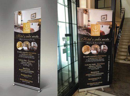 Roll-up banner pre hotel Slávia.