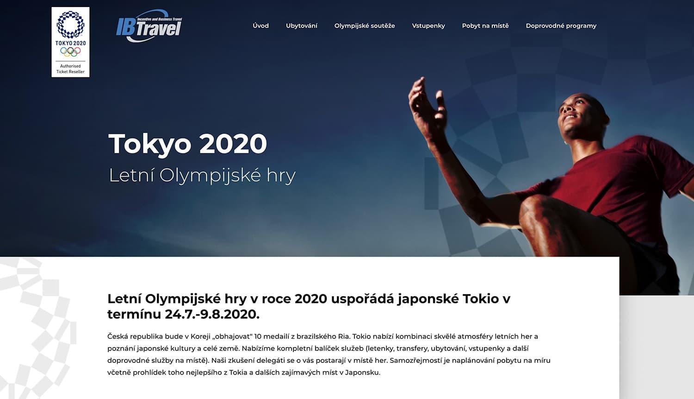 tokyo 2020 webstránka