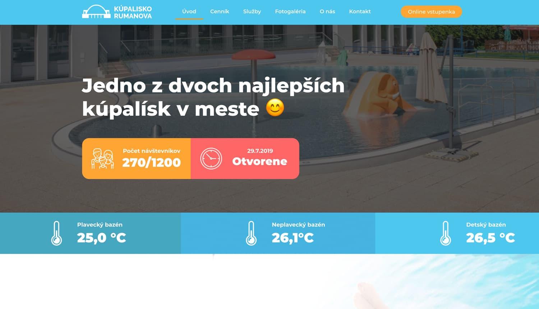 kúpalisko rumanová teho webstránka