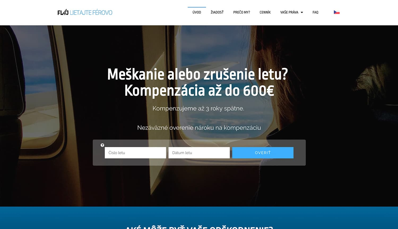 lietajteferovo webstránka dizajn