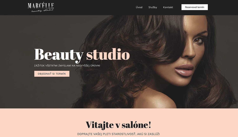 marcelle beauty studio kosice kozmeticky salon moderná webstránka