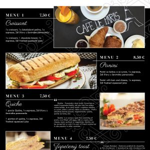 raňajkové menu grafika
