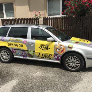 smile taxi polep aut košice