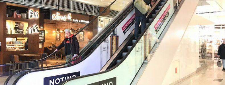 Polep eskalátorov pre Notino
