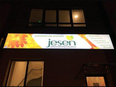 jesen domov svetelené reklamy kosice