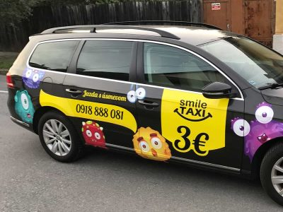 smile taxi polep auto košice